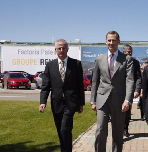 Casa Real Casa Real El Rey visita la factoría de Renault en Villamuriel de Cerrato (Palencia)