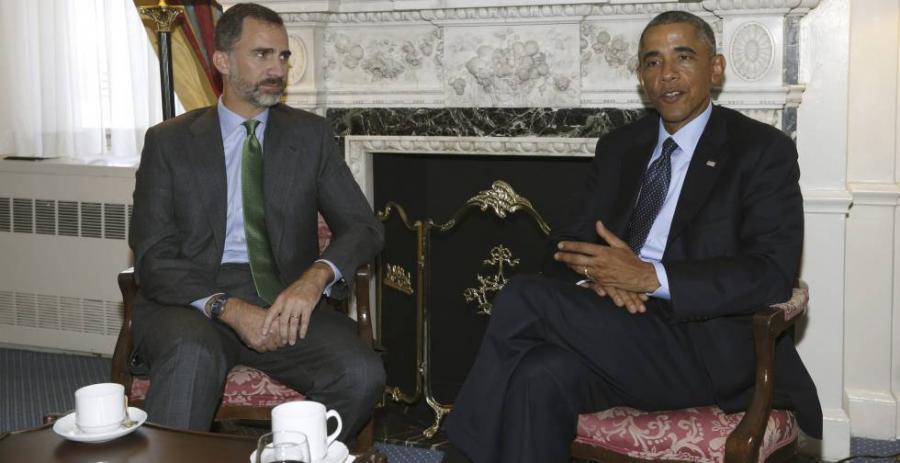 Casa Real Casa Real Sánchez, Iglesias y Rivera almorzarán con Obama y el Rey en el Palacio Real