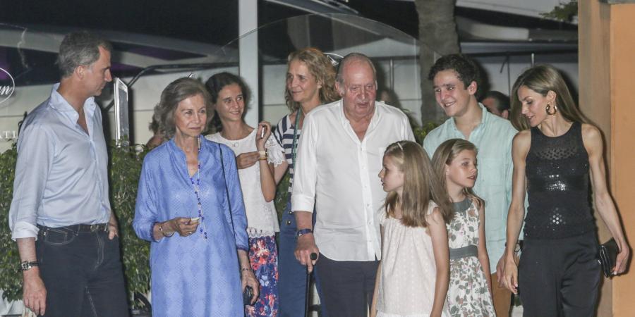 Casa Real Casa Real Primer día de vacaciones de la Familia Real en Mallorca: cena al completo