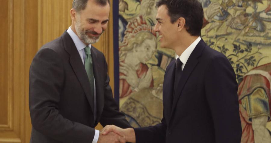 Casa Real Casa Real El Rey recibe a Sánchez tras su reelección como secretario general del PSOE