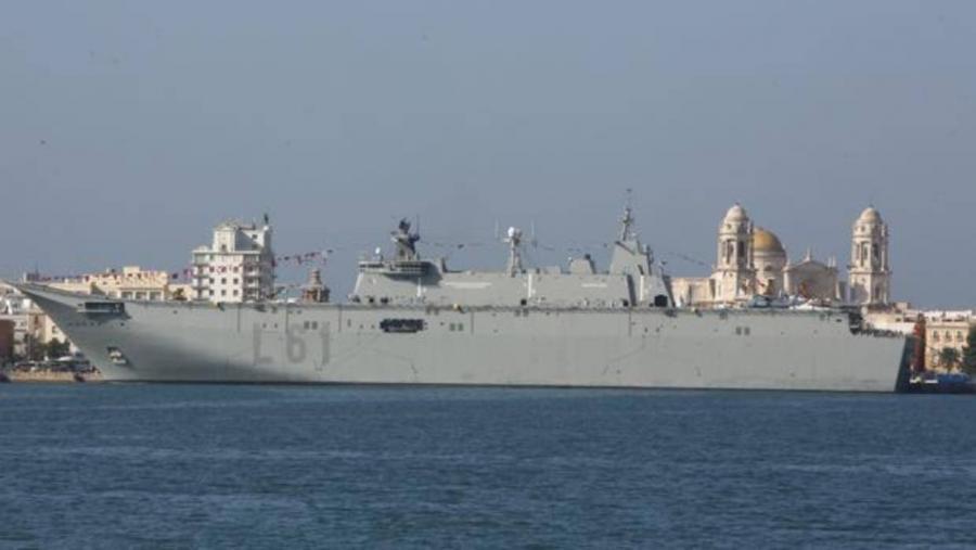 Actualidad Noticias El mayor buque de guerra español tiene su base en Cádiz